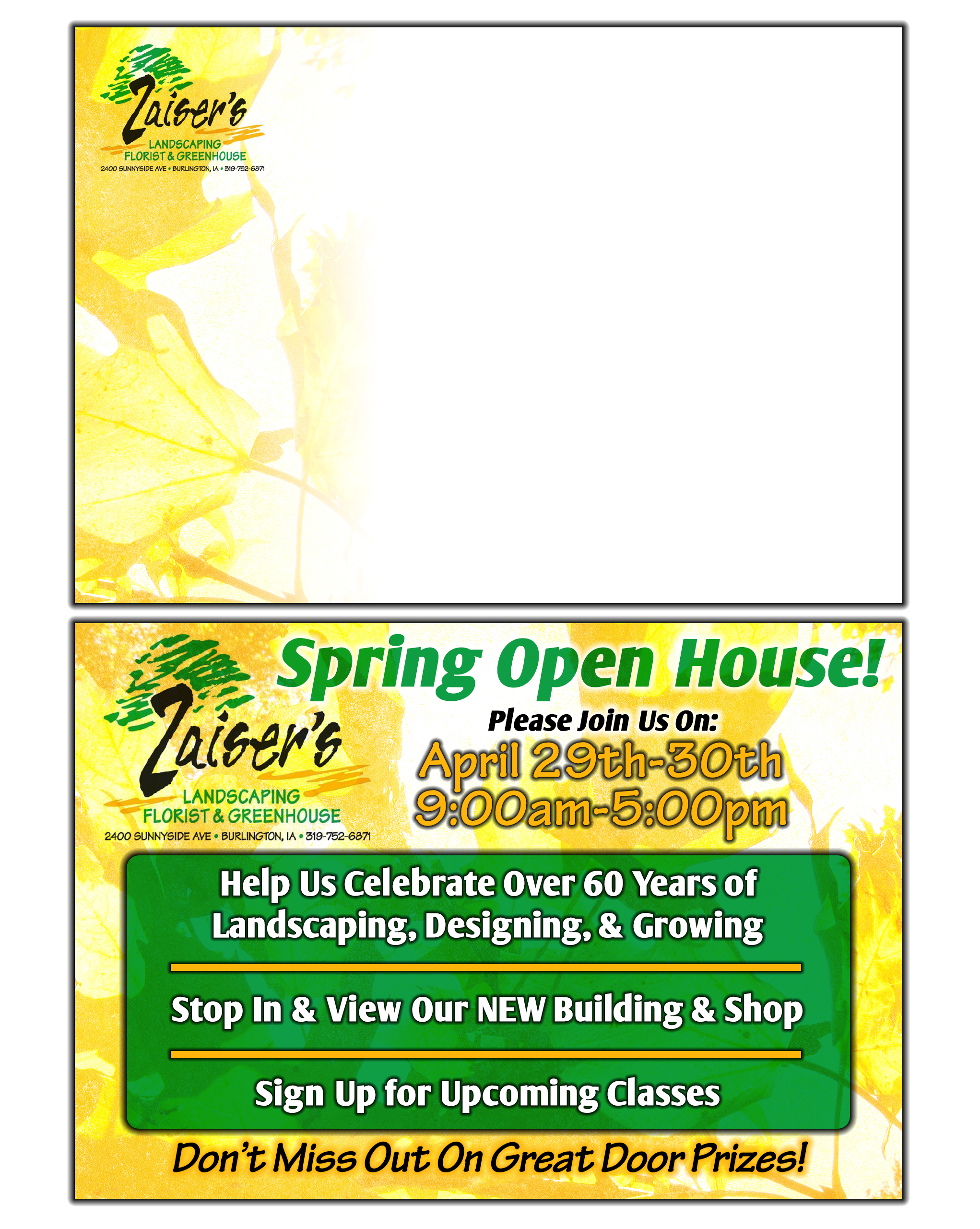 Zaisers Open House Postcard